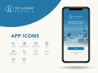 SD Luxury Rentals App Icons