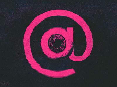 They're Always Watching... design internet eyeball distorted 1984 glitch graphic @ eye icon poster net neutrality