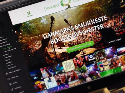 Smukfest music festival socialwall font menu social website festival nature green music