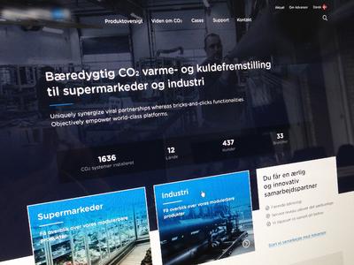 CO2 technology website  minimalistic clean purple blue industry landingpage dark ui website technology