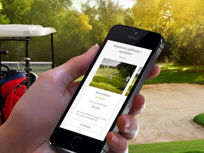 Golf website thumbnail mobile ui sport golfing golf