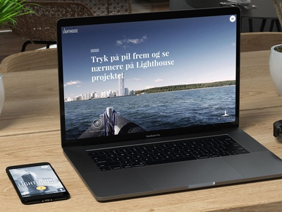 Lighthouse Aarhus parallax website clean site of the day video animation 3d real estate