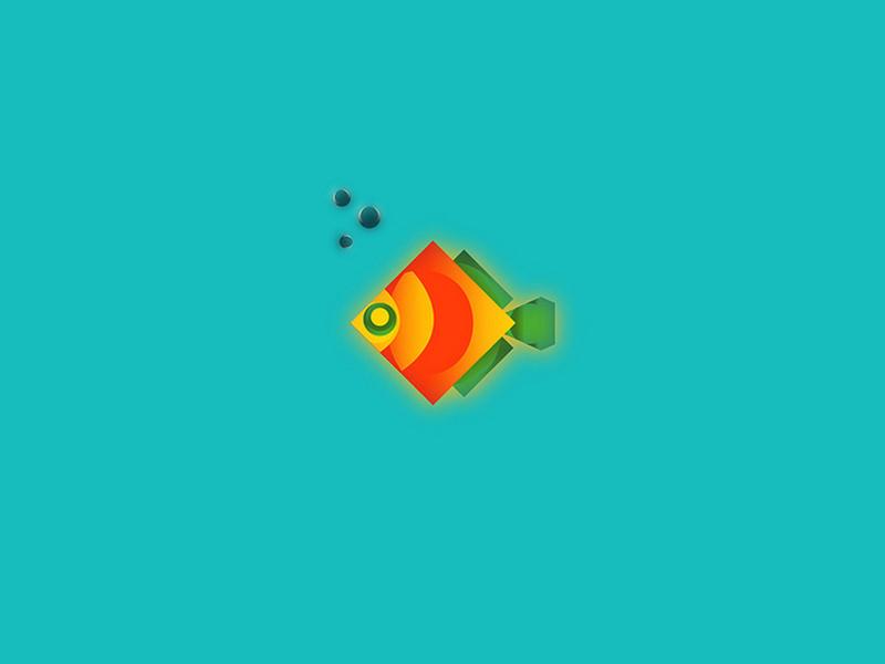 Fish Fun water vector sea fish icon