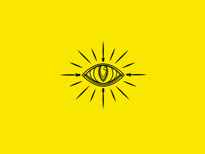 Cat Eye illustrator line yellow eye cat
