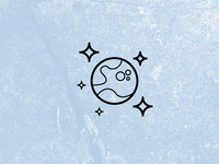 Space icon set. Planet and Stars