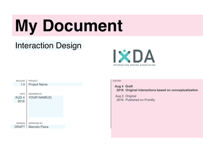 IxDA - Interaction Design Template - Sketch sketch template wireframes interaction design ixda