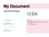 IxDA - Interaction Design Template - Sketch