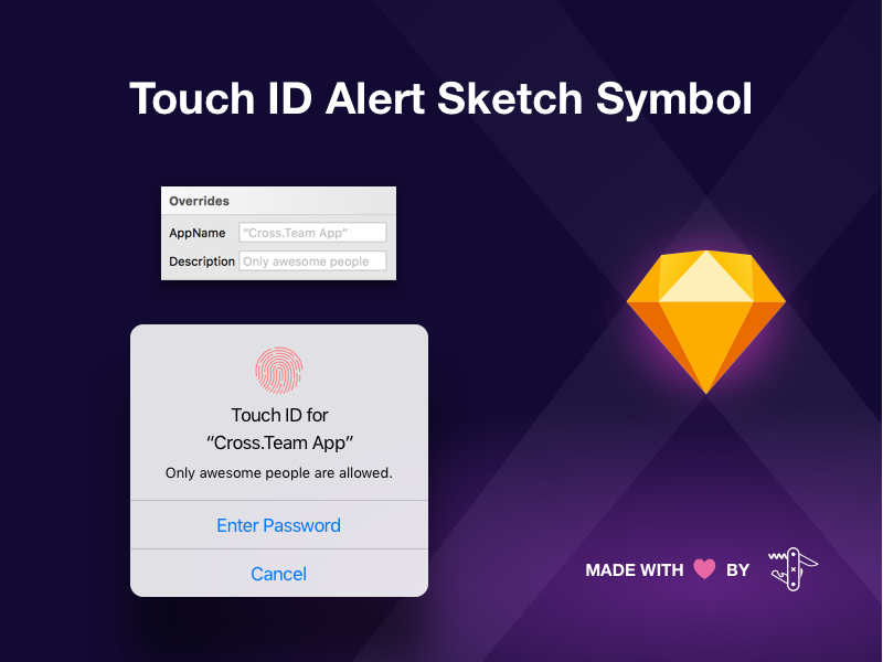 Ios Touch Id Alert Sketch Symbol By Marcelo Paiva Dribbble