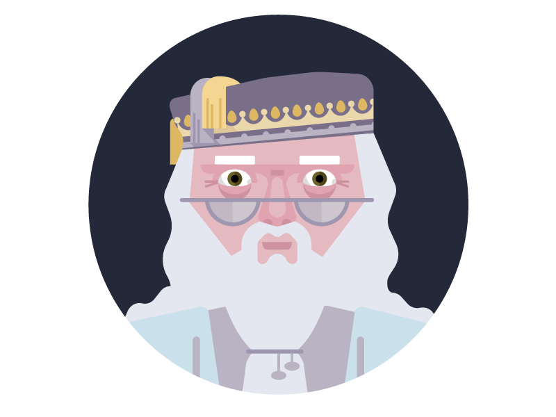every day i'm dumbling avatar character illustration magic old man wizard harry potter dumbledore