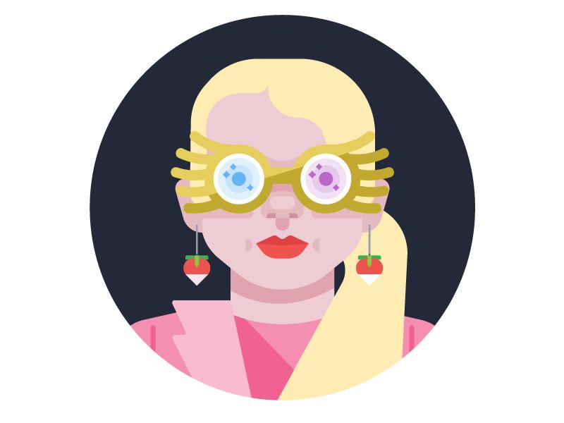luna lovegood illustration avatar character earrings glasses evanna lynch nargles magic wizard harry potter