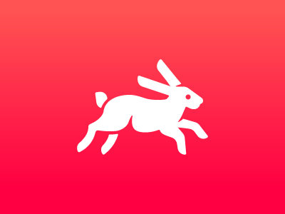 unstyle quick gradient pink unstyle app rabbit icon
