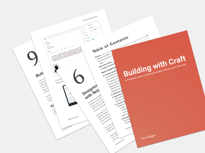 Building with Craft Writing Project book writing craftcms