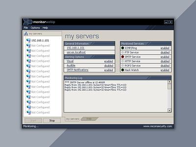 MonitorWebIP (circa 2004) windows security application