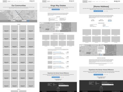Housing Community Wireframe prototyping wireframe web design ux