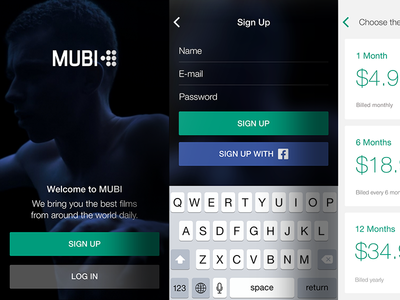 MUBI Onboarding onboarding ios mubi app