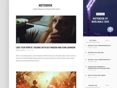 Notebook blog webdesign film cinema mubi