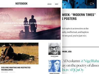 Notebook: Another Itteration notebook mubi film blog magazine web design