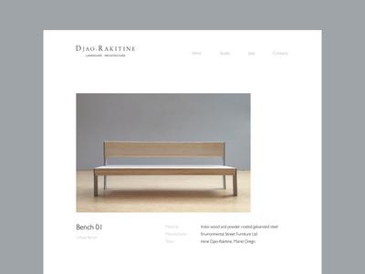 Asymmetry bench layout website asymmetry