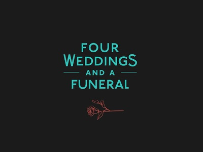 Four Weddings and a Funeral imaginary forces design drawing four weddings and a funeral main titles illustration