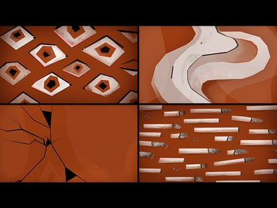 Smoke and Pattern Concept eyes concept boards illustration
