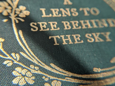 A Lens to See Behind the Sky illustration secret midnight press design cover book