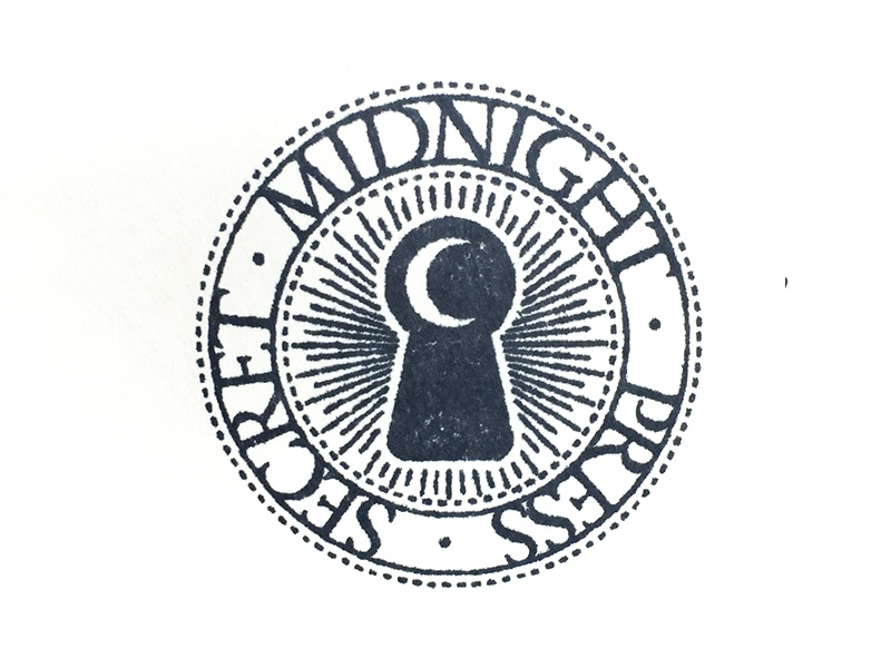 Secret Midnight Press ink keyhole moon secret midnight press stamp
