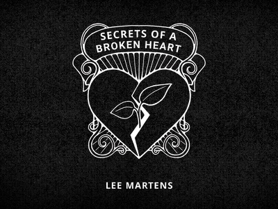 Secrets Of A Broken Heart Cover black and white drawing art cover book plant sprout heart broken secret illustration secret midnight press
