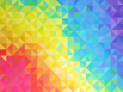 A Rainbow for the Wall pattern art design geometric colorful paint painting triangle rainbow