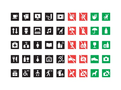 Kulturhuset Stadsteatern Custom Icons minimal simple symbols pictogram wayfinding icon