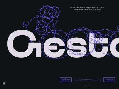 ND Gestalt display typeface type font typedesign