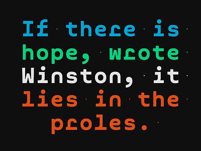 Mono typedesign typeface font type