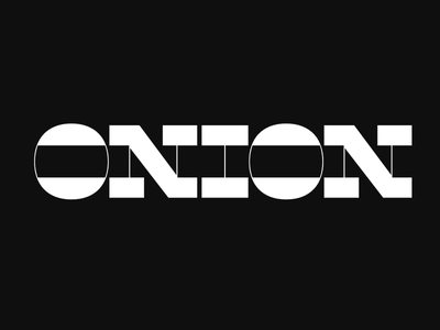 Onion contrast letters typedesign typeface font type