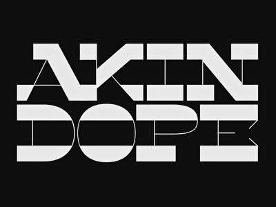 Stressing Dope contrast letters typedesign typeface font type