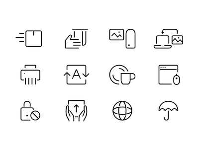 Random Selected Stroke Icons stroke symbols pictograms icons