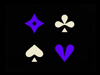 ♣, ♦, ♥ & ♠ spades hearts diamonds clubs