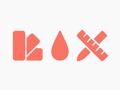 Case of the mondays… drop swatch color design tools solid symbols pictograms icons