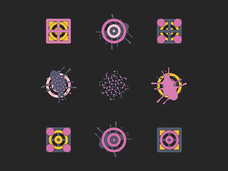 Bits, Splots and Molecules pattern insane fuck what the freak illustration
