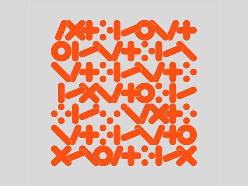 Lingua graphica pattern typographic illustration