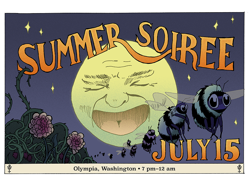 summer soiree invitation final color by justin mcdowell dribbble