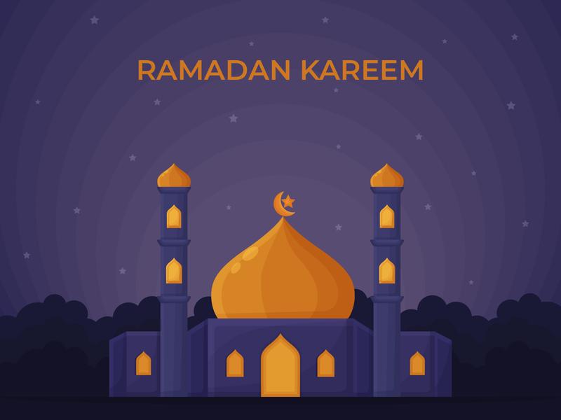 Ramadan Kareem Illustrations For Greeting Card or Poster