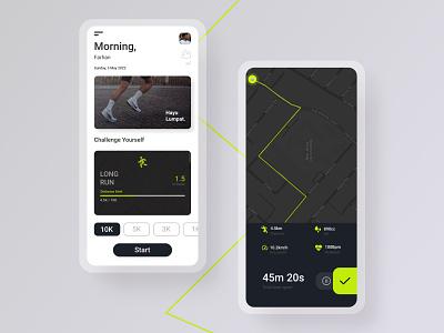Running App app ui uiux running app