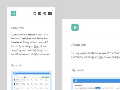 It's Alive! desktop clean minimal flat typography portfolio personal homepage web