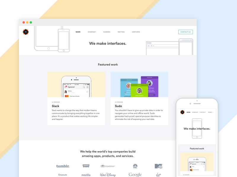 Metalab.co marketing metalab landing responsive flat web mobile devices desktop agency