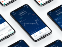 Crypto.com Currency Wallet chart buy portfolio mobile finance ios blue fintech graph mco crypto app