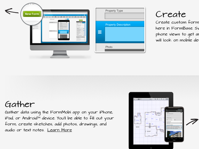 FormMobi Instruction Page ui ux webapp