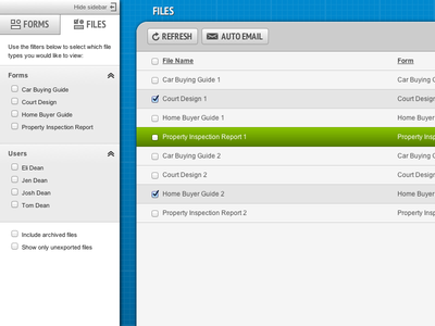 FormMobi Files View ui ux webapp