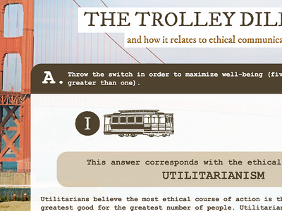 Trolley Dilemma Website ui ux