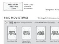 Movie Theatre Homepage Wireframe