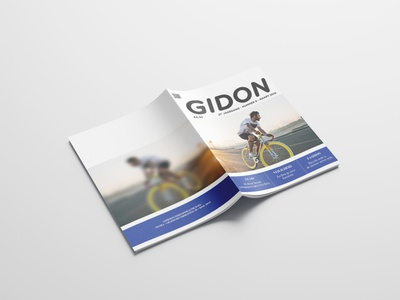 GIDON Magazine - 01 typography magazine cover magazine text branding design
