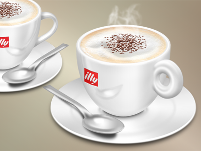 Cappuccino Final icon icons design designing 2011 cappuccino cup drink favorite metal spoon porcelain foam